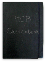 Hannah Blowes sketchbook  flip book format